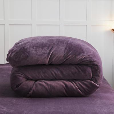 2019新款纯色双拼法兰绒被套 150x200cm 暗紫