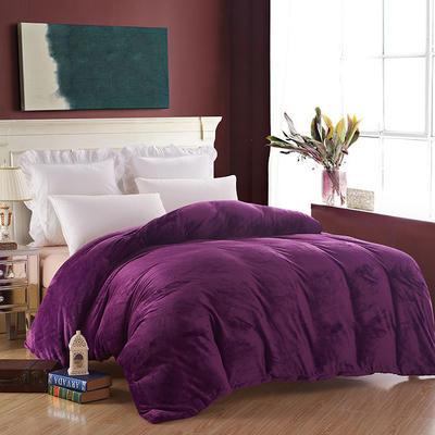 2019新款纯色双拼法兰绒被套 150x200cm 深紫