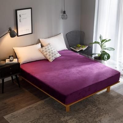 2019新款法兰绒单品床笠 120*200+25cm 深紫