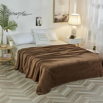 2019新款法兰绒毛毯 150*200cm 咖啡色