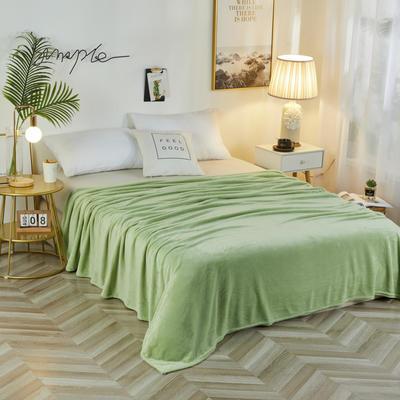 2019新款法兰绒毛毯 150*200cm 浅绿