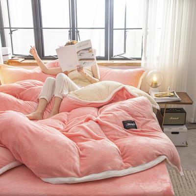 贝贝绒大包边工艺四件套22个花色4个规格 1.2m床单款三件套 玉色-白
