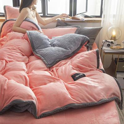 贝贝绒大包边工艺四件套22个花色4个规格 1.2m床单款三件套 玉色-灰