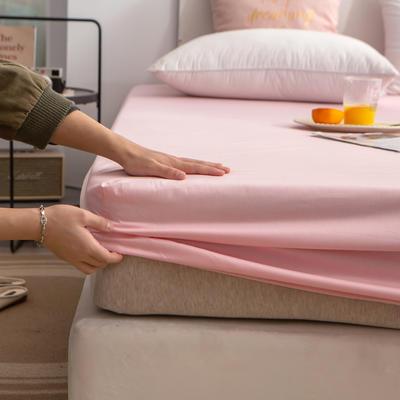 单品床笠、席梦思保护套-40s长绒棉-兰紫橙家纺 120*200+25cm 粉玉