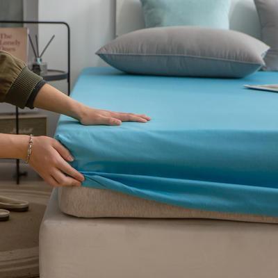 单品床笠、席梦思保护套-40s长绒棉-兰紫橙家纺 120*200+25cm 湖蓝