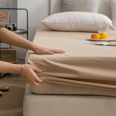 单品床笠、席梦思保护套-40s长绒棉-兰紫橙家纺 120*200+25cm 卡其
