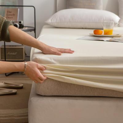 单品床笠、席梦思保护套-40s长绒棉-兰紫橙家纺 120*200+25cm 奶白