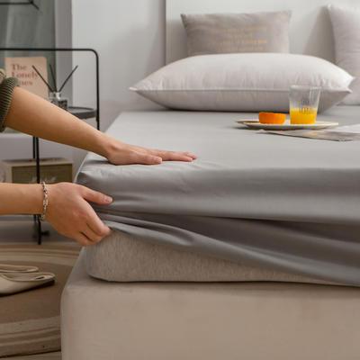 单品床笠、席梦思保护套-40s长绒棉-兰紫橙家纺 120*200+25cm 浅灰