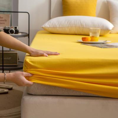 单品床笠、席梦思保护套-40s长绒棉-兰紫橙家纺 120*200+25cm 杏黄