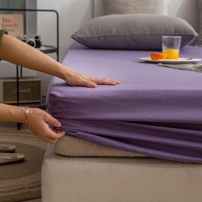 单品床笠、席梦思保护套-40s长绒棉-兰紫橙家纺 120*200+25cm 雪青