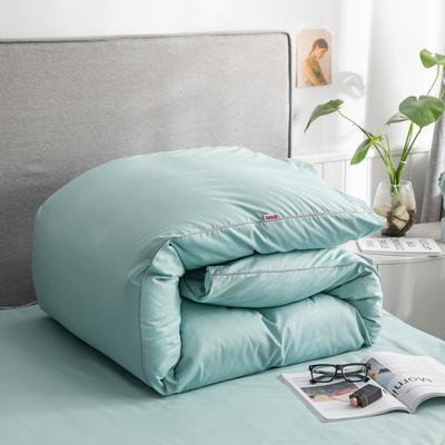 2020新款40s长绒棉纯色工艺款单被套 160x210cm 豆绿