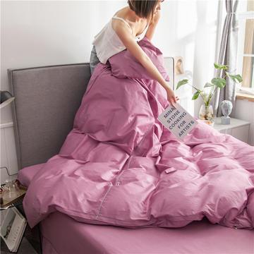 2020新款40s长绒棉纯色工艺款单被套
