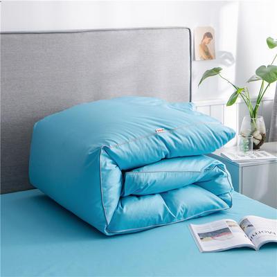 2020新款40s长绒棉纯色工艺款单被套 160x210cm 湖蓝