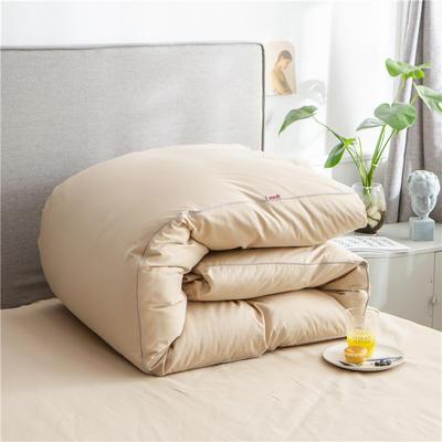 2020新款40s长绒棉纯色工艺款单被套 160x210cm 卡其