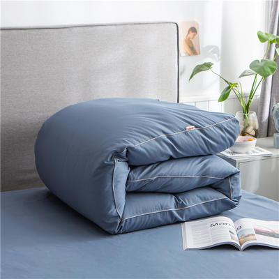 2020新款40s长绒棉纯色工艺款单被套 160x210cm 蓝灰