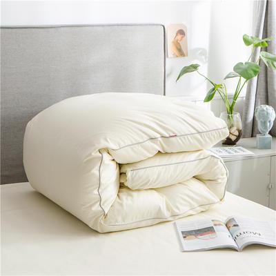 2020新款40s长绒棉纯色工艺款单被套 160x210cm 奶白
