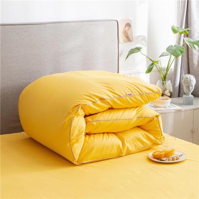 2020新款40s长绒棉纯色工艺款单被套 160x210cm 杏黄