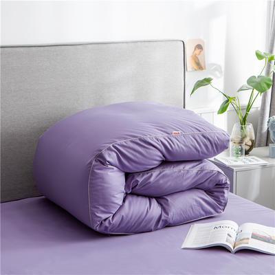 2020新款40s长绒棉纯色工艺款单被套 160x210cm 雪青