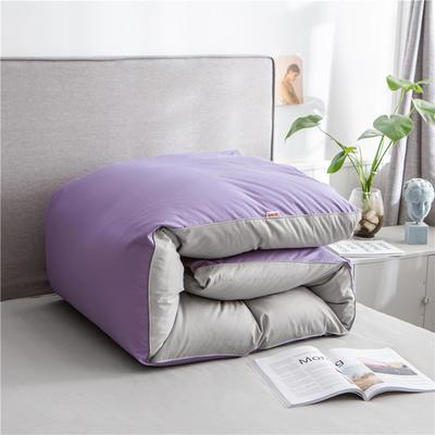2020新款40s长绒棉纯色工艺款单被套 200x230cm 雪青+浅灰