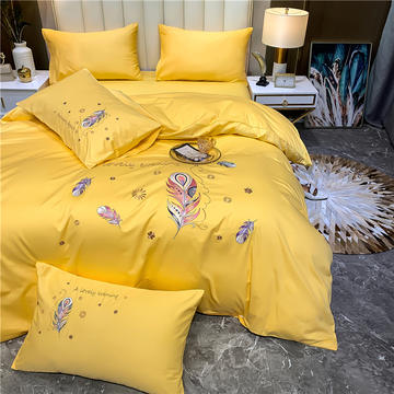 13374长绒棉纯色刺绣工艺款四件套