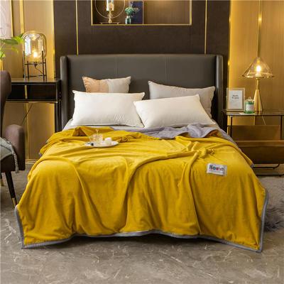 2020新款贝贝绒复合毯 155*220cm 姜黄-复合毯