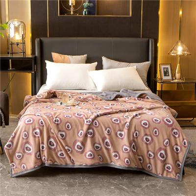 2020新款贝贝绒复合毯 155*220cm 暖阳-复合毯