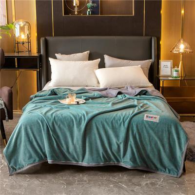 2020新款贝贝绒复合毯 155*220cm 雅绿-复合毯