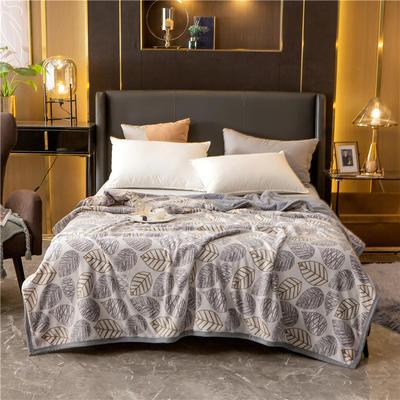 2020新款贝贝绒复合毯 155*220cm 叶语香颂-复合毯