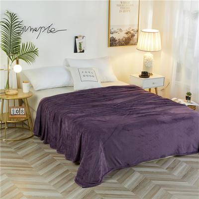 2020新款法兰绒毛毯 180*230cm 暗紫