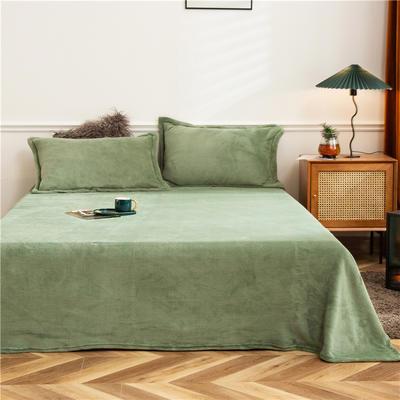 2020新款法兰绒毛毯 180*230cm 军绿