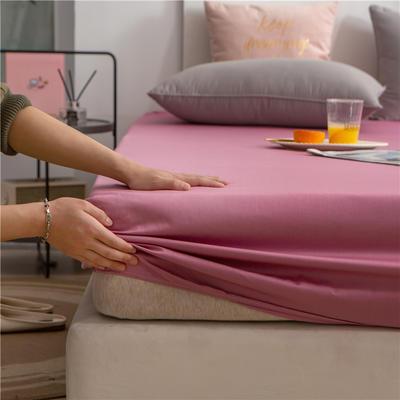2021新款 单品床笠、床笠三件套 席梦思保护套-40s长绒棉-兰紫橙家纺 150*200+25cm 豆沙