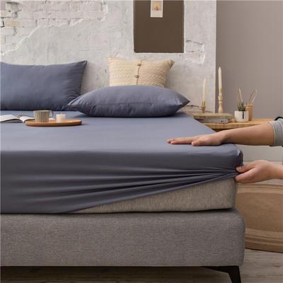 2021新款 单品床笠、床笠三件套 席梦思保护套-40s长绒棉-兰紫橙家纺 150*200+25cm 中灰