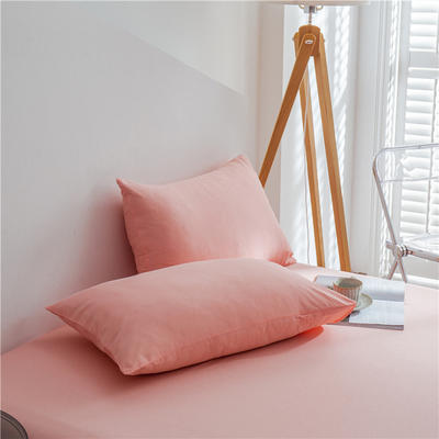 兰紫橙 长绒棉纯色枕套 48cmX74cm 粉玉