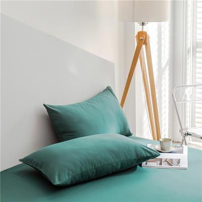 兰紫橙 长绒棉纯色枕套 48cmX74cm 墨绿