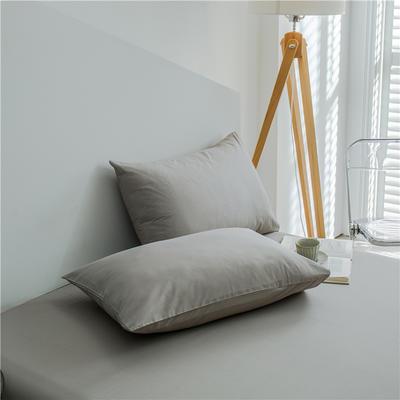 兰紫橙 长绒棉纯色枕套 48cmX74cm 浅灰