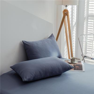 兰紫橙 长绒棉纯色枕套 48cmX74cm 中灰