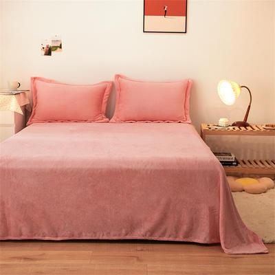 2021新款纯色法兰绒牛奶绒毛毯毯子 180*230cm 玉色