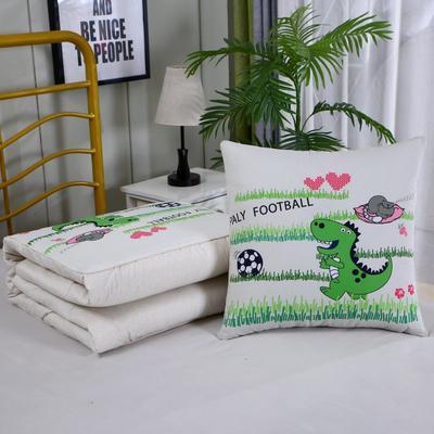 2020新款数码印花抱枕被 1.5*1.95m 足球恐龙