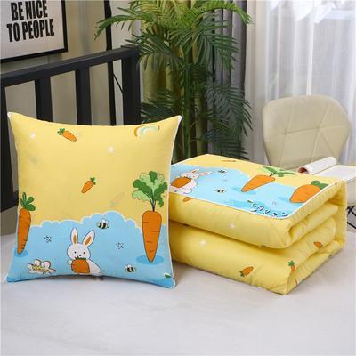2020新款精梳棉抱枕被 1.5*1.95m 萝卜兔