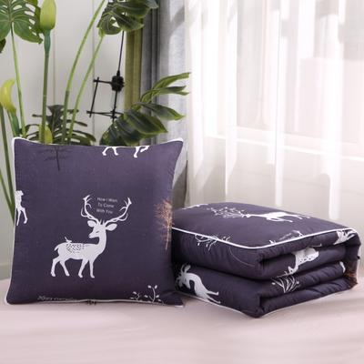 2020新款精梳棉抱枕被 1.5*1.95m 北欧鹿