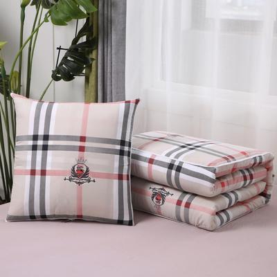 2020新款精梳棉抱枕被 1.5*1.95m 格纹