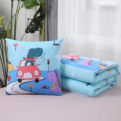 2020新款精梳棉抱枕被 1.5*1.95m 快乐恐龙