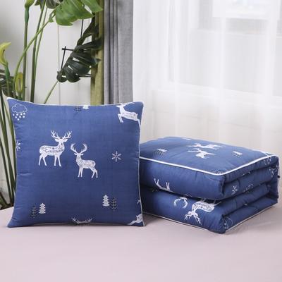 2020新款精梳棉抱枕被 1.5*1.95m 雪花鹿
