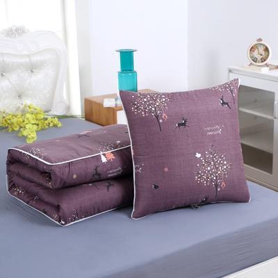 2020新款精梳棉抱枕被 1.5*1.95m 发财之鹿