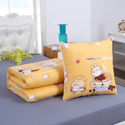 2020新款精梳棉抱枕被 1.5*1.95m 咖啡熊