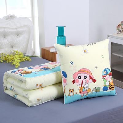 2020新款精梳棉抱枕被 1.5*1.95m 快乐童年
