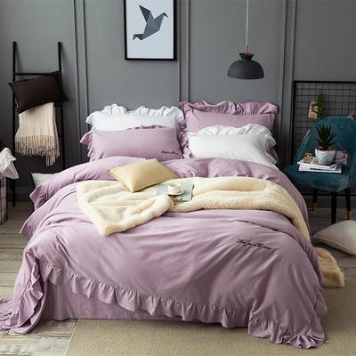 花边磨毛系列 (总) 标准(1.5m-1.8m床) 丁香紫