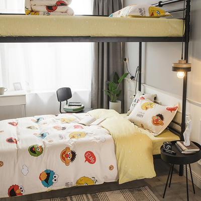 2019新款全棉单人床三件套 适用床-0.9-1.2m 卡米