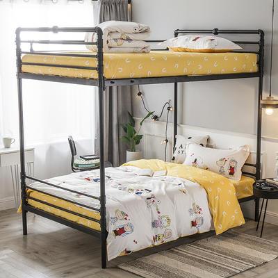 2019新款全棉单人床三件套 适用床-0.9-1.2m 史诺比