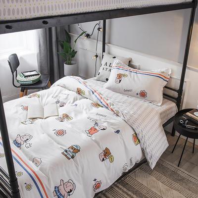 2019新款全棉单人床三件套 适用床-0.9-1.2m 阳光假日